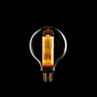 3-staps dimbare LED lichtbron Kooldraad Globe 8 cm - maximaal 5 Watt