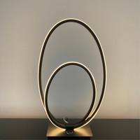 3-staps dimbare tafellamp Ophelia Zwart met geïntegreerde LED - H 41 cm