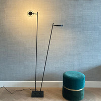 Dimbare 2-lichts vloerlamp Bling met geïntegreerde LED - zwart