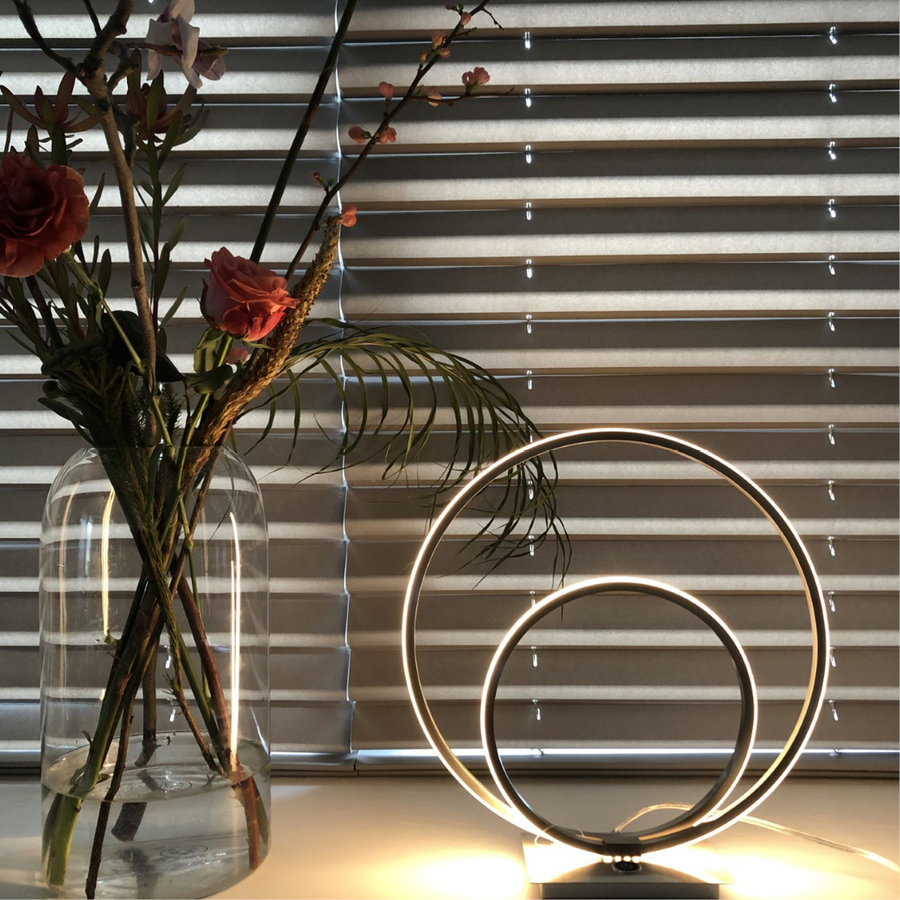 3-staps dimbare tafellamp Ophelia Staal met geïntegreerde LED - H 36 cm
