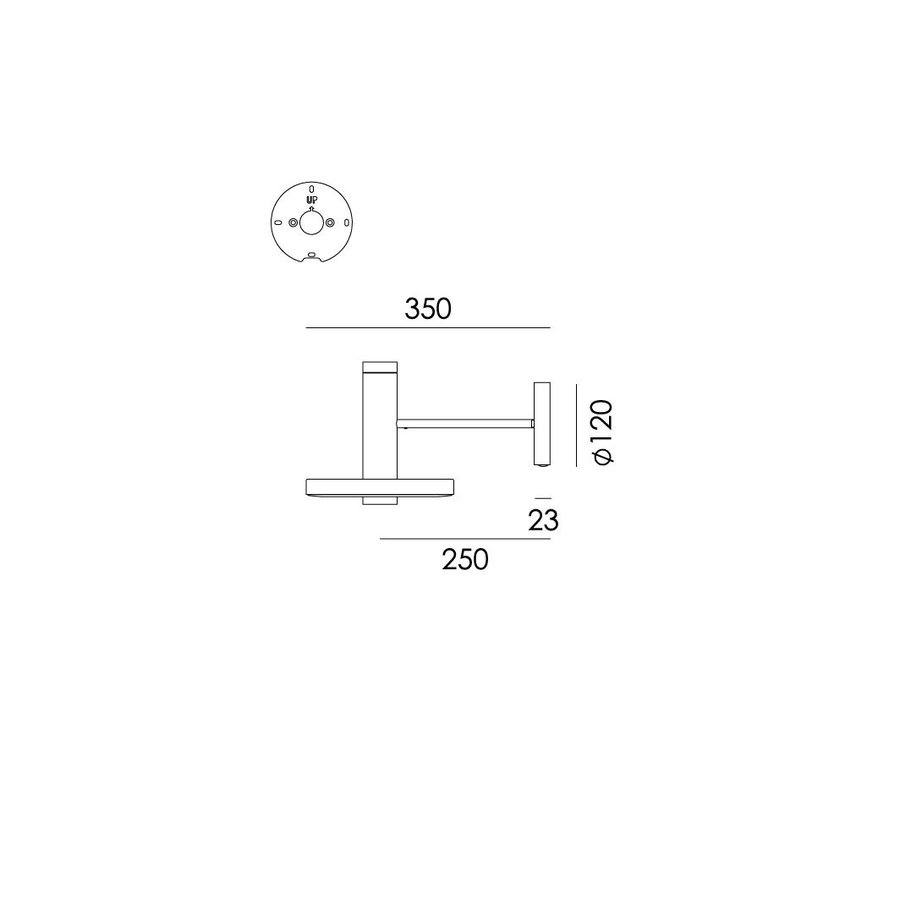 Dimbare (Dim to Warm) wandlamp Beads Wall 35 Downlight - directe wandinstallatie