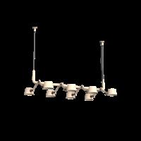 8-lichts hanglamp Tonone Bolt Pendant