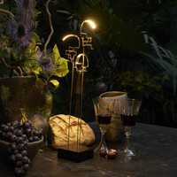 Oplaadbare, snoerloze, 3-staps dimbare tafellamp Boucle met geïntegreerde LED