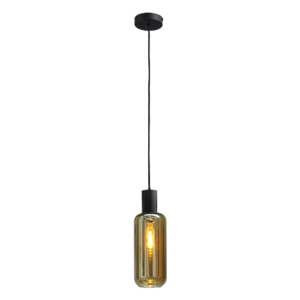 Masterlight 1-lichts hanglamp Bounty Smoke - mat zwart
