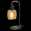 Masterlight 1-lichts tafellamp Bounty Smoke met glas nr. 1 - mat zwart