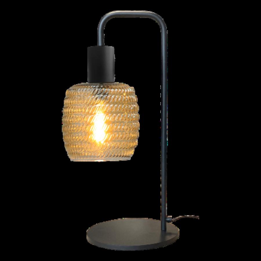 1-lichts tafellamp Bounty Smoke met glas nr. 1 - mat zwart