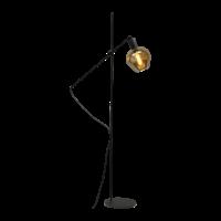 1-lichts vloerlamp Bounty Smoke met glas nr. 3 - mat zwart