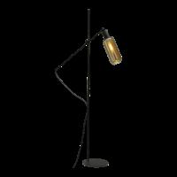 1-lichts vloerlamp Bounty Smoke met glas nr. 5 - mat zwart