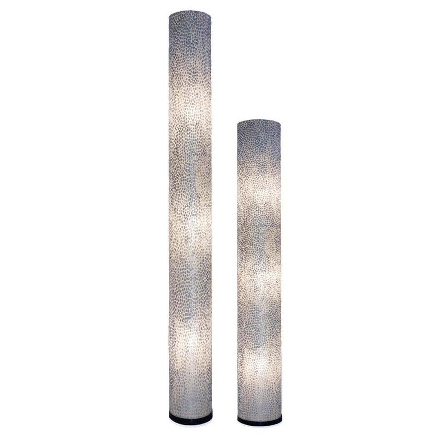 Vloerlamp Wangi White Cilinder - H 200 cm
