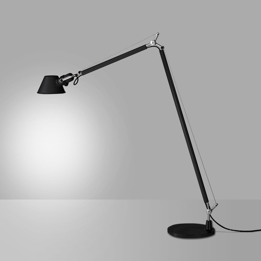 Vloerlamp Tolomeo Lettura - Zwart