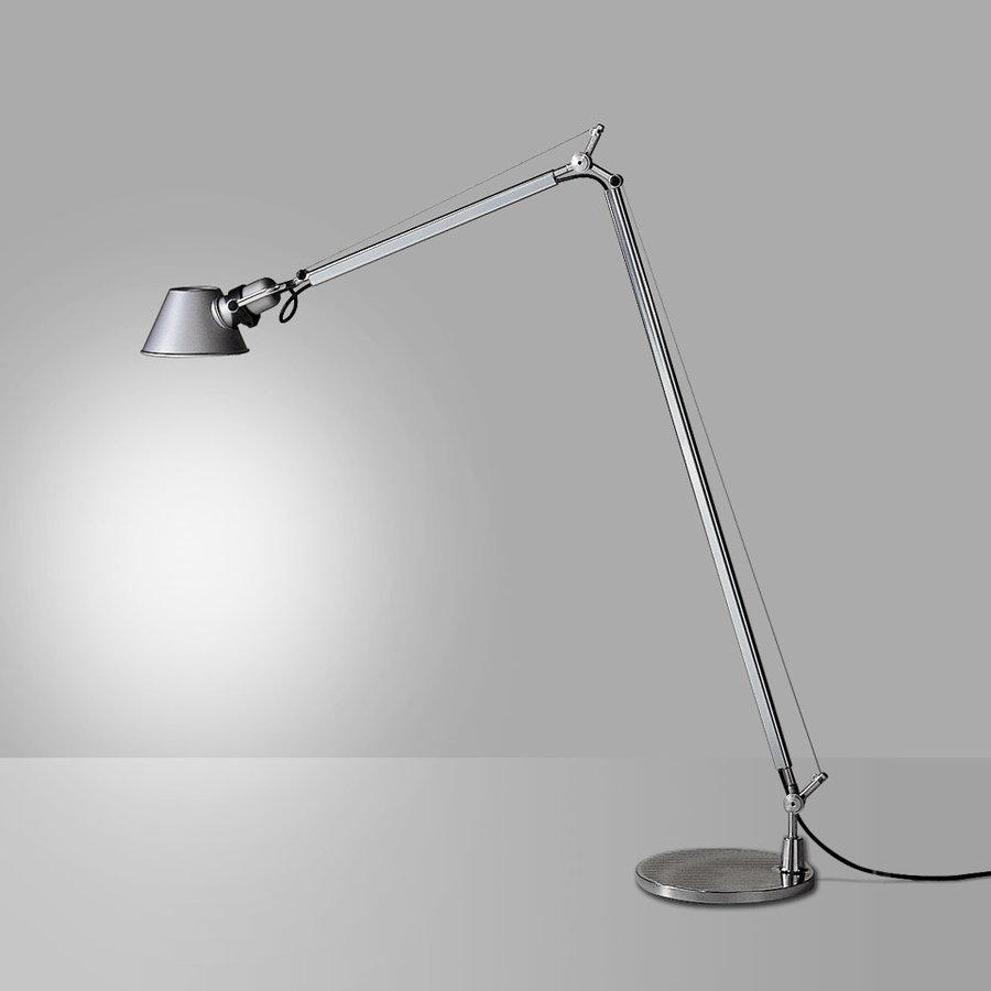 Dimbare vloerlamp Tolomeo Lettura met geïntegreerde LED - Aluminium