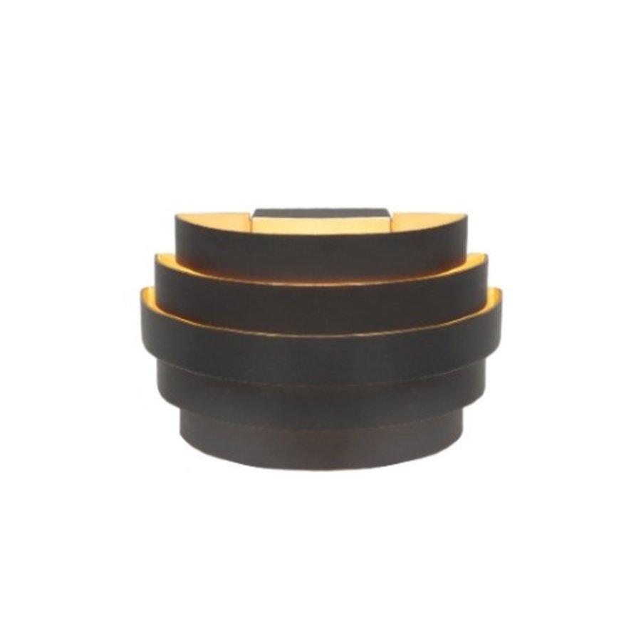 Up-down wandlamp Scudo L 20 cm - Zwart