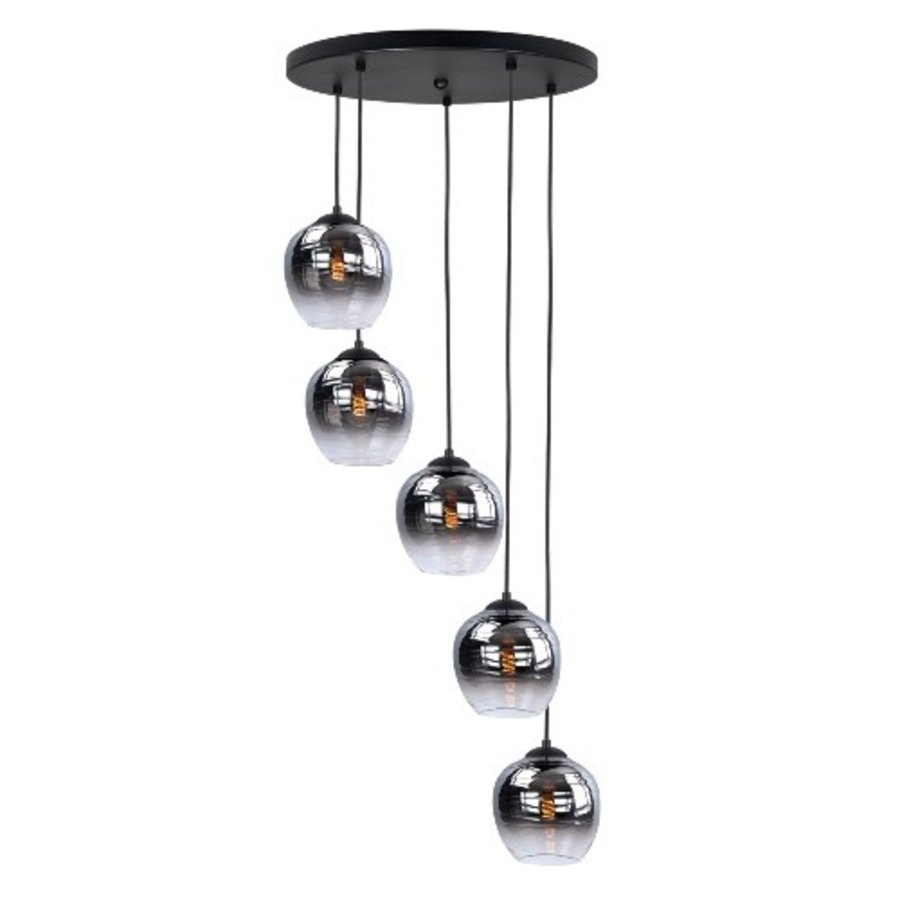 5-lichts hanglamp Fantasy Appel