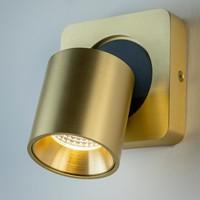 Kantelbare, draaibare en dimbare 1-lichts opbouwspot Laguna met geïntegreerde LED