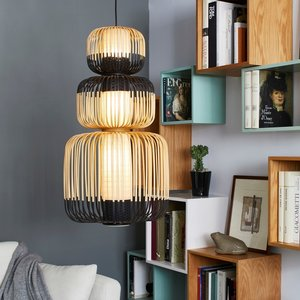 Forestier Paris 3-lichts hanglamp Bamboo