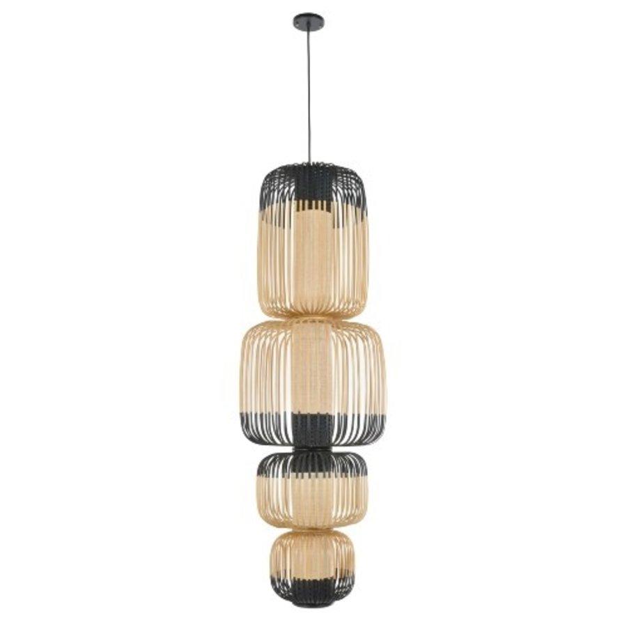 4-lichts hanglamp Bamboo