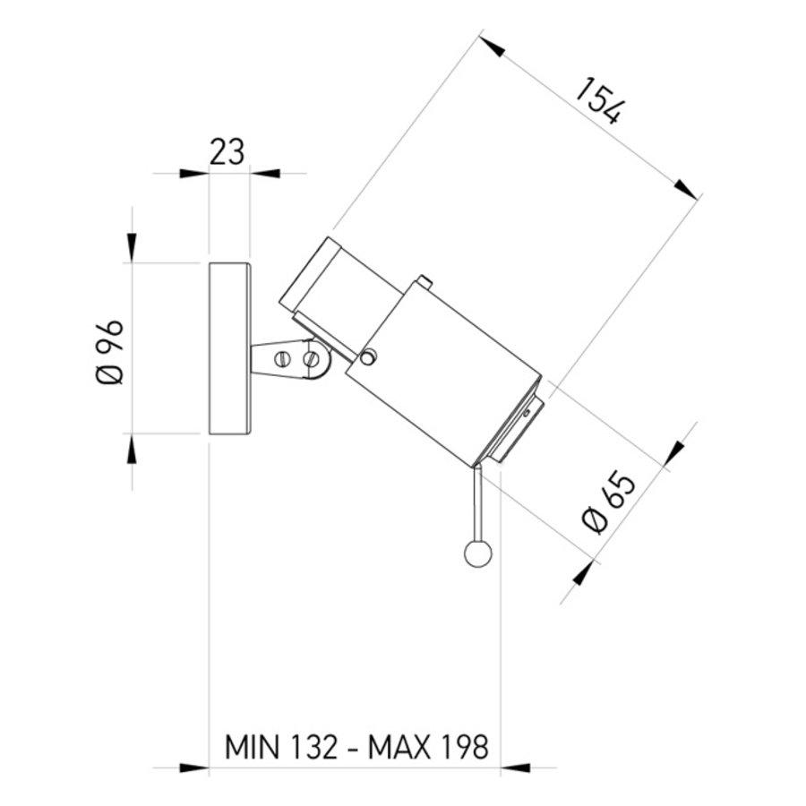 Wandlamp Biny Spot met GU10-fitting