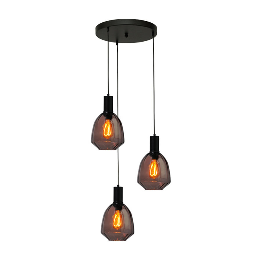 3-lichts hanglamp Porto Nicolette