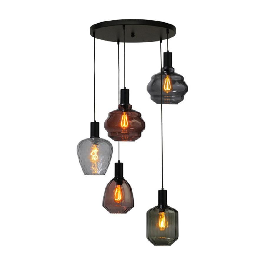 5-lichts hanglamp Porto Mix