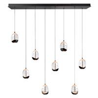 Dimbare 8-lichts hanglamp Clear Egg met geïntegreerde LED