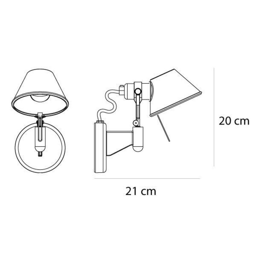 Wandlamp Tolomeo Micro Faretto Parete
