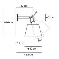 Dimbare wandlamp Tolomeo Diffusore 32 Parete