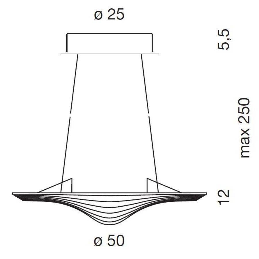 Dimbare hanglamp Sestessa Cabrio met geïntegreerde LED
