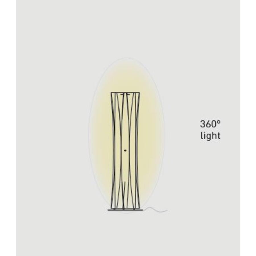 Vloer-/tafellamp Bach Small met aan-/uitschakelaar