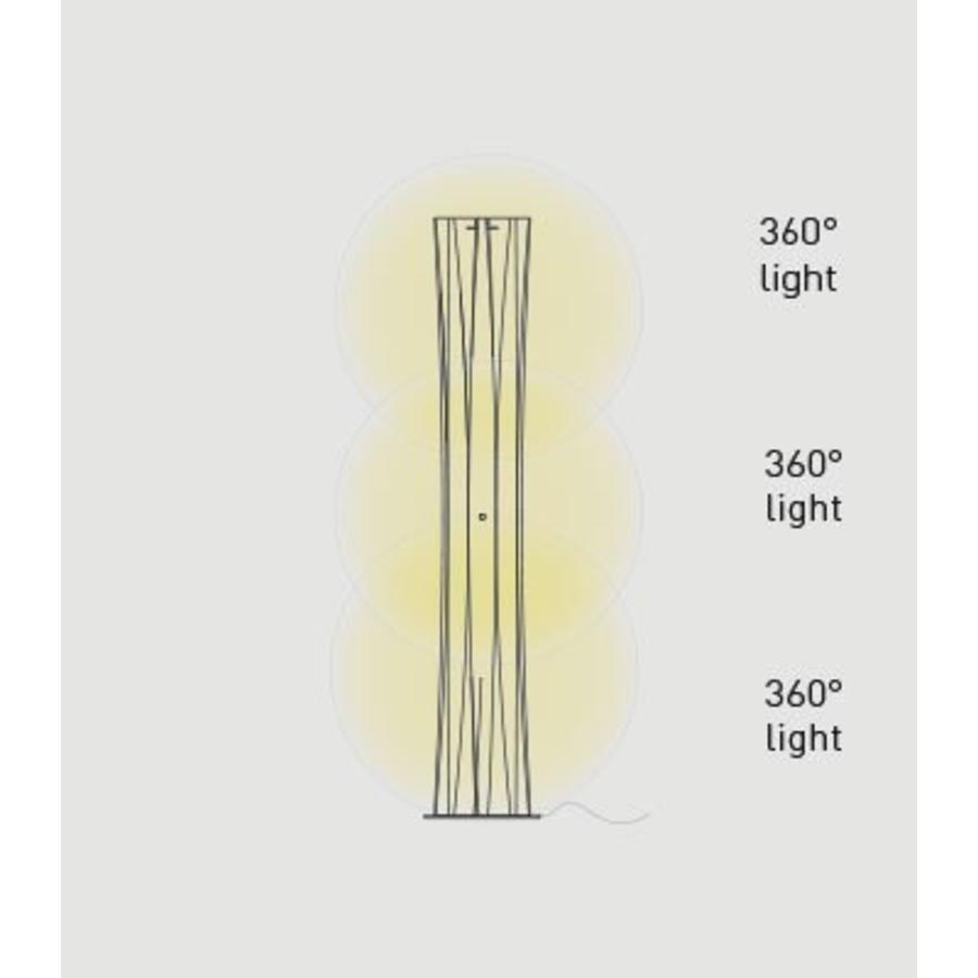 Dimbare vloerlamp Bach XL