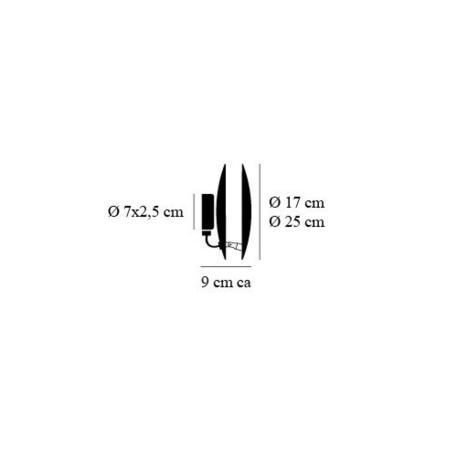 Dimbare wandlamp Lederam W 25 met geïntegreerde LED