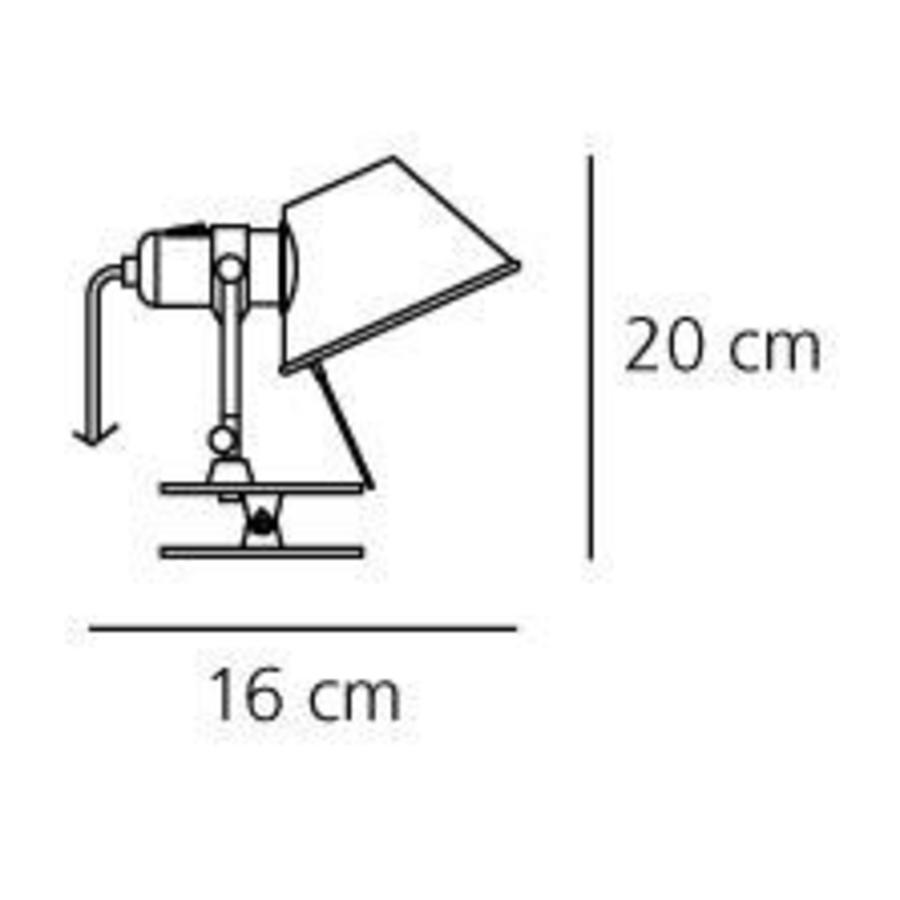 Klemlamp Tolomeo Micro Pinza Parete met geïntegreerde LED