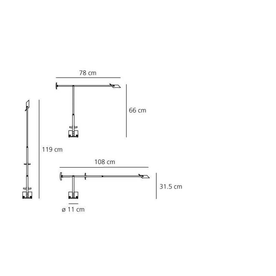 Dimbare Tafellamp Tizio met geïntegreerde LED