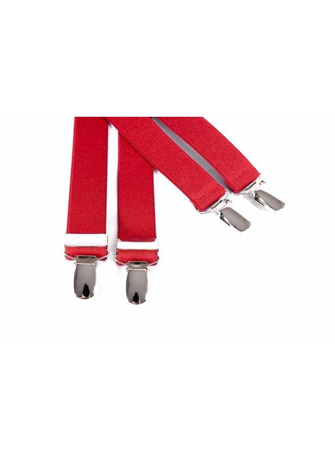 Smalle rode bretels