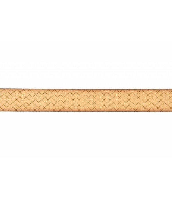 Alberto riemen Mooie duo-tone donkerbruin - melange riem met ruit dessin