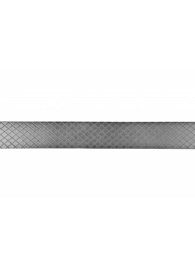 Mooie duo-tone grijs - melange riem met ruit dessin