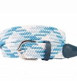 Alberto riemen Mooie multi blauwe webbing riem