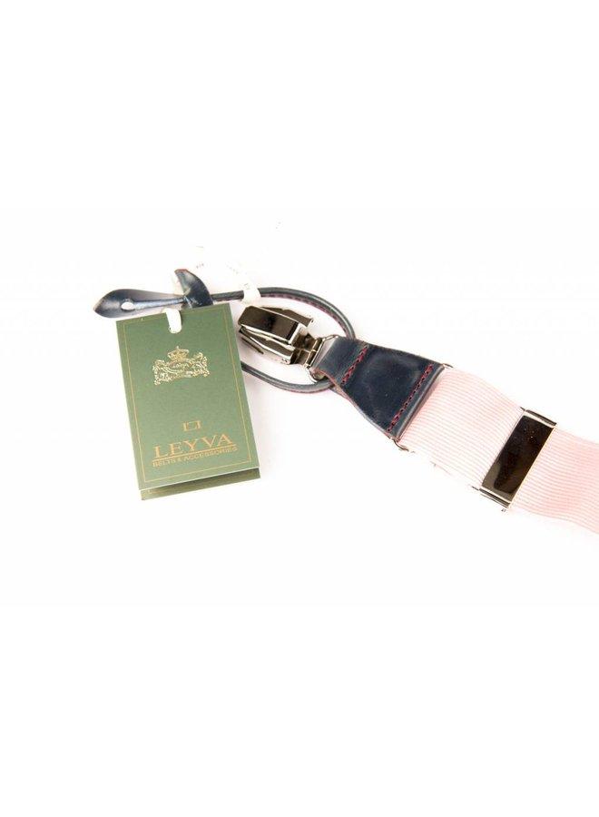 Luxe brede roze velours Bretels - patten & clips
