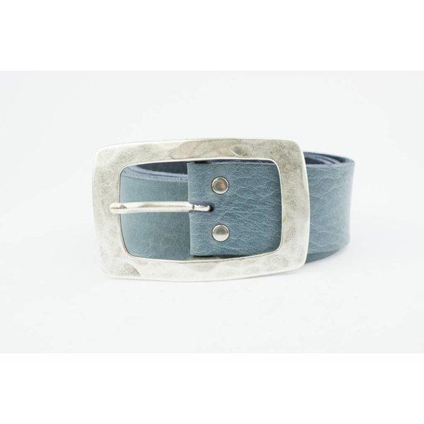 Prachtige Jeansblauwe riem (Fairtrade)