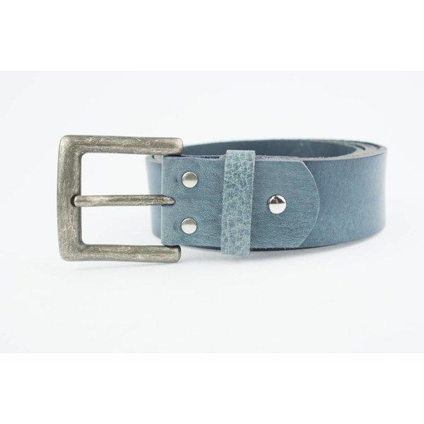 Mooie Jeansblauwe riem (Fairtrade)