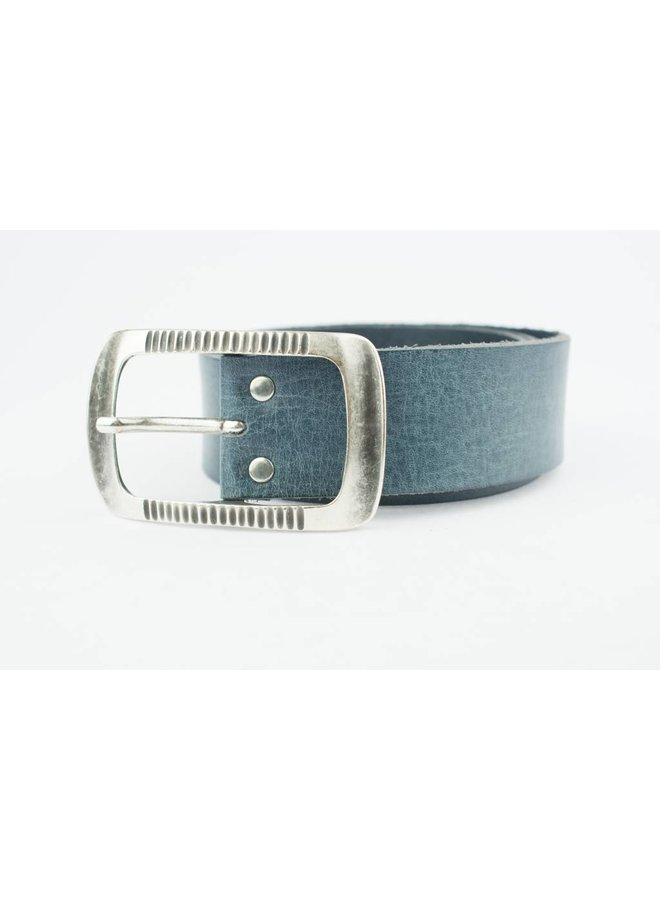 Charmante Jeansblauwe riem (Fairtrade)