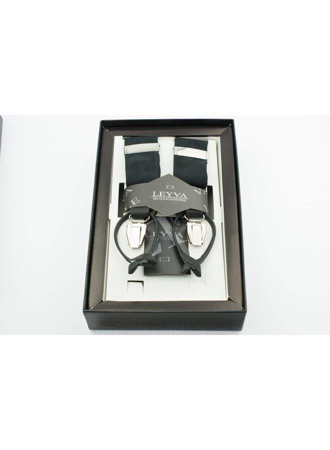 Luxe zwarte velours Bretels