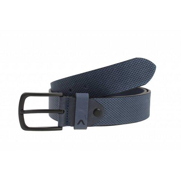 Stoere blauwe jeansriem