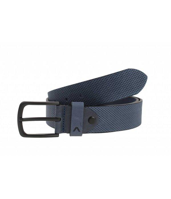 Alberto riemen Stoere blauwe jeansriem