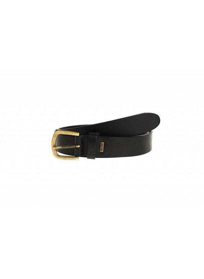 Smalle zwart kleurige casual riem