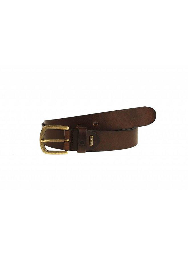 Smalle bruin kleurige casual riem