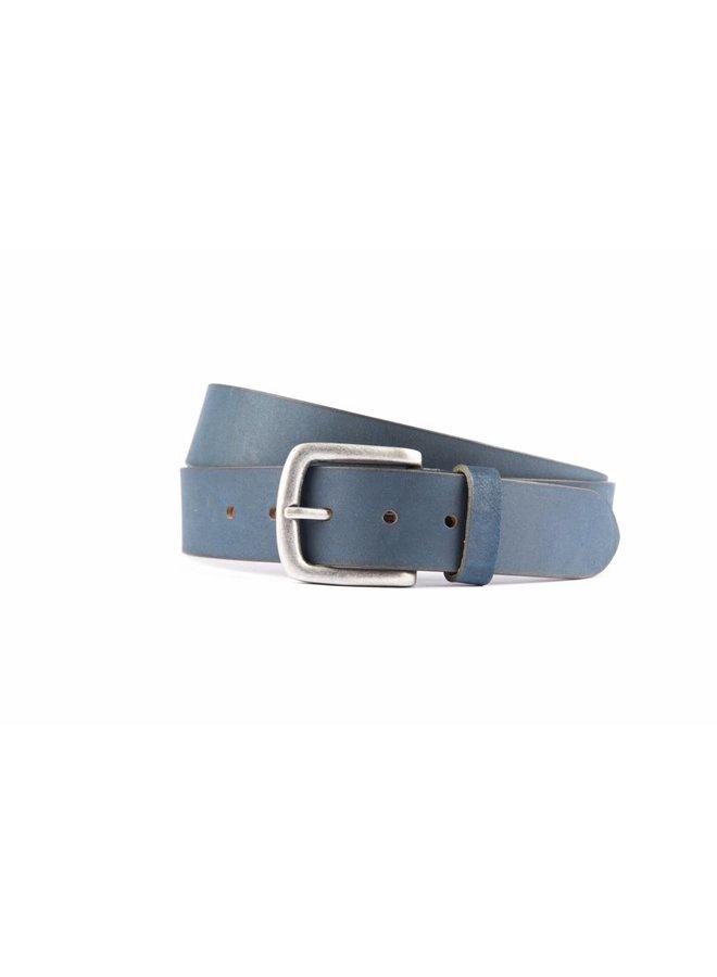Stoere donkerblauwe jeansriem