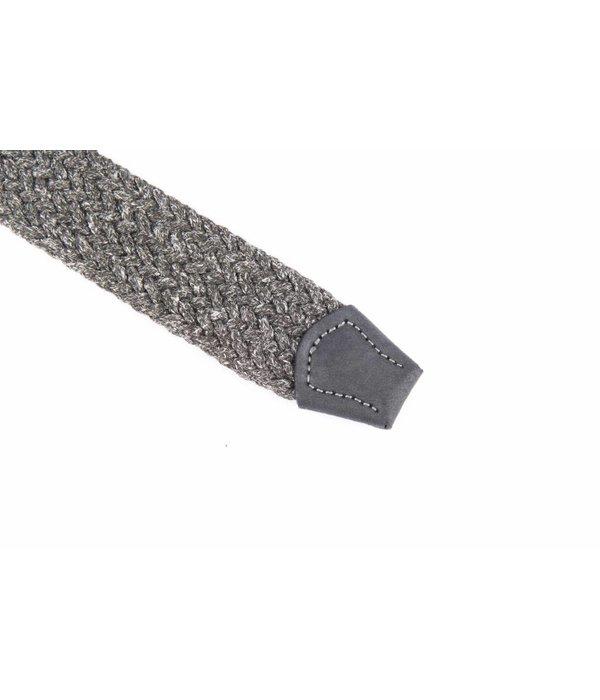 Alberto riemen Unieke grijze riem met leuke combinatie van materialen