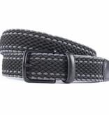 Alberto riemen Mooie elastische zwart/grijze riem