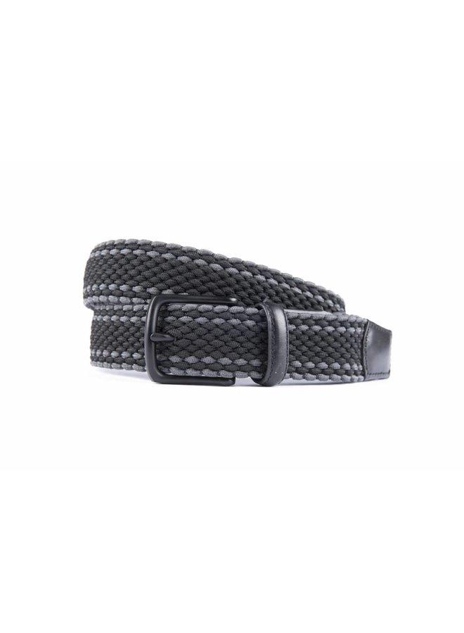 Mooie elastische zwart-grijs kleurige riem