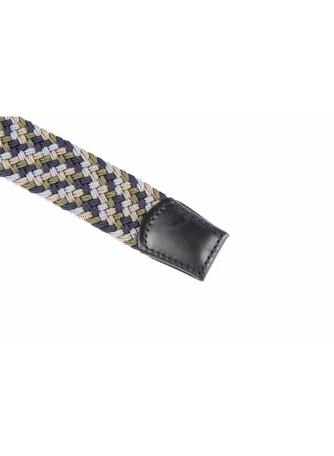 Mooie elastische multicolour webbing riem